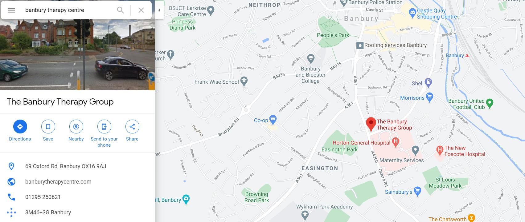 banbury-therapy-centre-google-maps